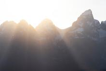 Sunset In Grand Teton National Park