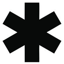 Vector Image Of An Asterisk Or Multiplication Sign