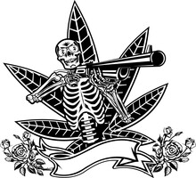Skull, Guns And Roses