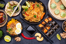 Asian Food. Chinese, Japanese And Thai Cuisine