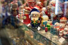 Russian Matryoshka Toys On A Shelf