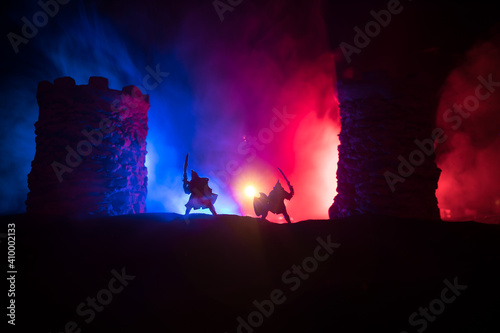 Photo Medieval battle scene
