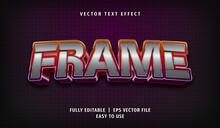 Text Effect 3D Frame, Editable Text Style