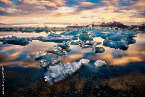 Fotografie, Obraz Glacier Lagoon Jokulsarlon in east Iceland