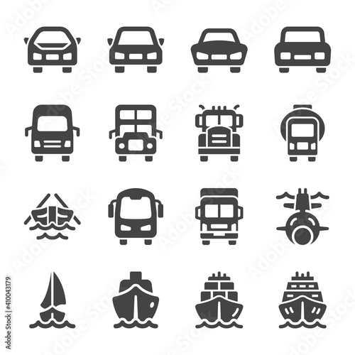 Obraz vehicle and transportation front view icon set,vector and illustration - fototapety do salonu