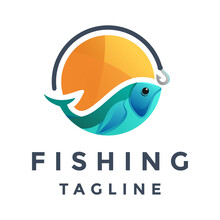 Fishing Colorful Logo
