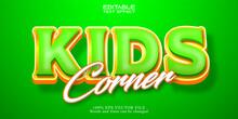 Kids Corner Text Effect