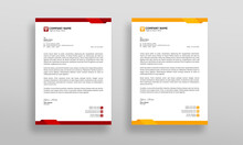 Modern And Clean Company Letterhead Design Template.