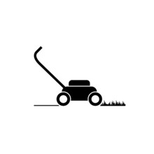 Lawn Mower Icon Isolated On White Background