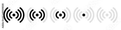 Canvastavla Wireless internet sign vector illustration isolated on white background