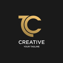 Abstract Combination Of T And C Letter Logo Design