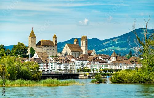 Obraz na plátne Rapperswil Castle at Lake Zurich in Swizterland