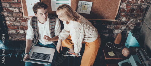Fotografia Office business teamwork concept. General discussion. Wide screen