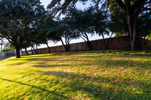 The Grassy Knoll And Picket Fence Above Elm Street, Dallas, Texas. Possible John F Kennedy Assassin Location In 1963.