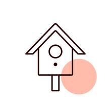 Nesting Box Or Birds House Vector Icon