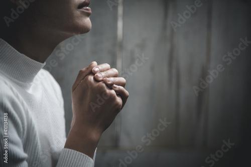 Leinwand Poster Praying Hands