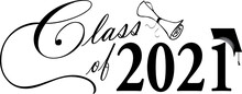 Class Of 2021 With Diploma Design