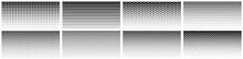 Seamless Halftone Gradient. Black Screentone Graphics. Abstract Geometric Black And White Graphic Design Print Pattern.