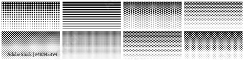 Obraz Seamless halftone gradient. Black screentone graphics. Abstract geometric black and white graphic design print pattern. - fototapety do salonu