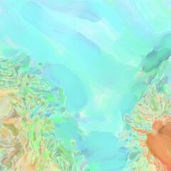 Fototapeta na wymiar Handmade surreal abstract pattern watercolor. Modern artistic painting. 2d illustration. Texture backdrop painting mix. Creative wall art. Contemporary art.