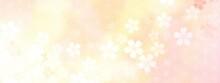 桜の花に麻の葉模様が重なった淡いイラスト No.02