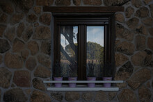 Window Of Country House Or Chalet