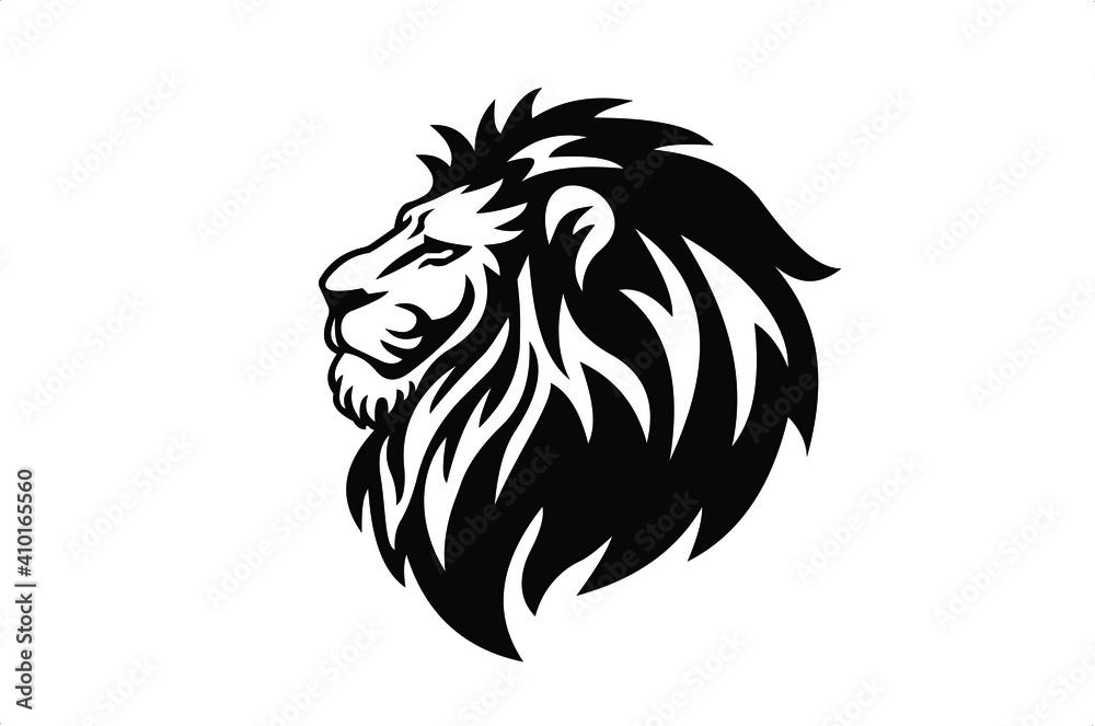 Fototapeta lion logo icon template, elegant lion logo design illustration