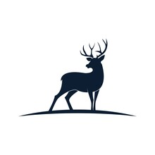 Simple Deer Silhouette Logo