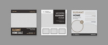 Set Of Real Estate Social Media Post, Home For Sale Social Media Post, Home Repair Poster Vector Template