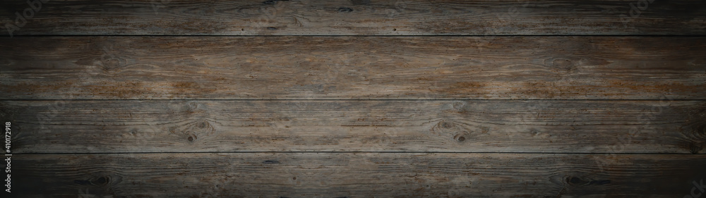 Fototapeta old brown gray rustic dark wooden texture - wood timber background panorama long banner