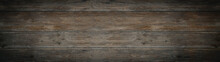 Old Brown Gray Rustic Dark Wooden Texture - Wood Timber Background Panorama Long Banner