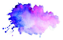 Watercolor Texture Splatter Stain Background