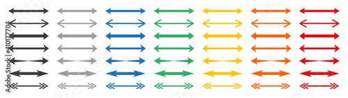Fotografia, Obraz Set of colour double arrows