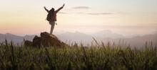 Wanderer Freiheit Berg Gipfel