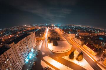 A big crossroads in the city