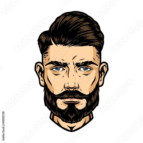 Stylish guy head © DGIM studio