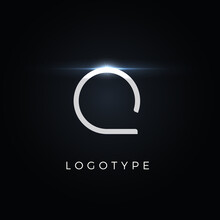 Futurism Style Letter Q. Minimalist Type For Modern Futuristic Logo, Elegant Cyber Tech Monogram, Digital Device And Hud Graphic. Minimal Style Symbol, Vector Design