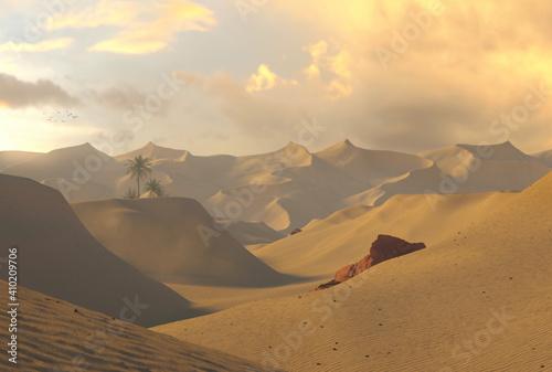 Photo Sand Dunes. Golden hour