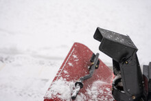 Snow Blower Chute Is Ready To Blow The Fresh Snow Out Of Your Driveway