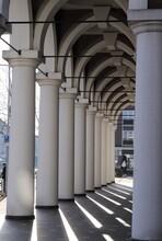 White Mosque Arch Pillars In Amsterdam