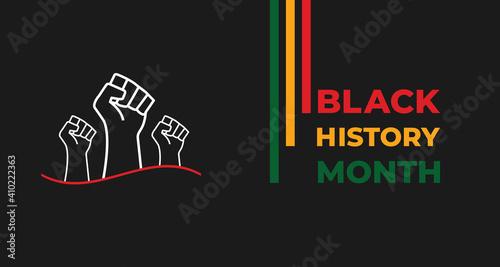 Slika na platnu African American History or Black History Month