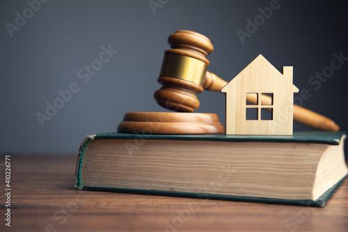 Fototapeta Judge auction and real estate concept