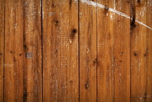 Rustic Brown Wood Wall Background. Shabby Wooden Texture Material Backdrop.