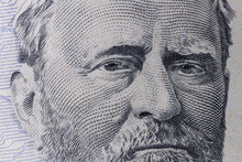 President Ulysses S. Grant On The Obverse Of A Fifty Dollar Bill For Background.