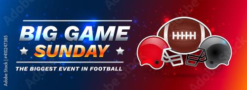 Obraz na płótnie American football super championship - Sunday football big game banner template
