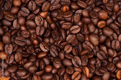 Fotografiet coffee beans background