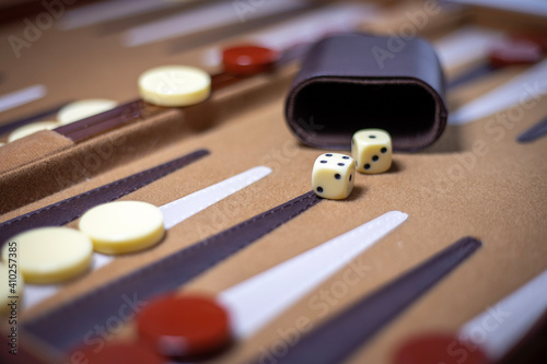 Fotografia, Obraz game of backgammon