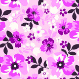 Floral seamless pattern. Hand drawn. For textile, wallpapers, print, wrapping paper. Vector stock illustration.