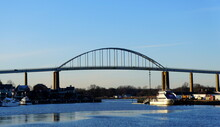 The View Of Chesapeake City Bridge During The Day Near Maryland, U.S
