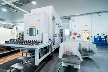 Automated Production Line At Factory